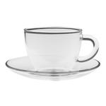Чашка с блюдцем Стеклянный бутон 150 мл из жаропрочного стекла купить за 250 руб.