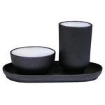 Чайная пара на подставке глиняная Черная купить за 230 руб.