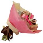 Букет из чая и кофе - Ирландский колокольчик розовый - Подарочный набор чайно-кофейный букет купить за 2000 руб.