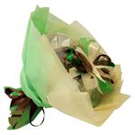 Букет из чая и кофе - Ирландский колокольчик зеленый - Подарочный набор чайно-кофейный букет купить за 2000 руб.
