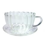 Чашка с блюдцем Колеус 150 мл из жаропрочного стекла купить за 350 руб.