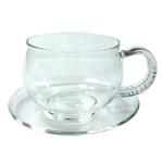 Чашка с блюдцем Циния 150 мл из жаропрочного стекла купить за 520 руб.
