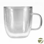 Чашка-стакан необжигающая с двойными стенками Глициния 250 мл из жаропрочного стекла купить за 380 руб.