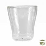 Чашка-стакан необжигающая с двойными стенками Незабудка 250 мл из жаропрочного стекла купить за 350 руб.