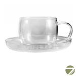 Чашка с блюдцем Анютины глазки 150 мл из жаропрочного стекла (1 шт) купить за 380 руб.