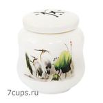 Чайница фарфоровая Журавли 280 мл купить за 500 руб.