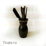 Инструменты для чайной церемонии Дао мини (черные) купить за 660 руб.