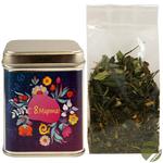 Зеленый чай Восемь сокровищ Шаолиня в подарочной банке 50 гр (8 Марта, серебряная) купить за 430 руб.