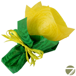 Букет из чая - Незабудка желтая - Подарочный набор чайный букет купить за 650 руб.