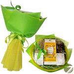 Букет из чая - Любимому воспитателю - Подарочный набор чайный букет купить за 1250 руб.