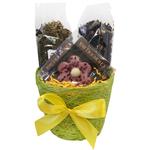 Кашпо подарочное с чаем и сладостями - Весенняя радость купить за 650 руб.