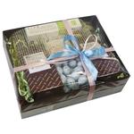 Коробка подарочная с чаем и кофе - Голубое утро купить за 3000 руб.