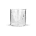 Чашка-стакан (бокал) необжигающая с двойными стенками Сакура 100 мл из жаропрочного стекла купить за 250 руб.