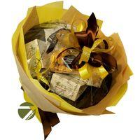 Букет из чая - Амарант желтый - Подарочный набор чайный букет купить за 1800 руб.