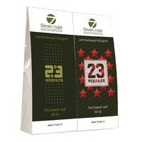 Два чая - 23 Февраля - Подарочный чайный набор купить за 385 руб.