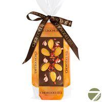 Шоколад на подложке узорный Chokodelika Клубника и миндаль, 55 гр купить за 220 руб.