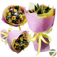 Букет из чая - Цветочная поляна - Подарочный набор чайный букет купить за 1500 руб.