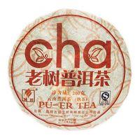 Шу Пуэр Лао Шу Ча (Блин) 2008 год 200 гр Фабрика Куньмин купить за 1650 руб.