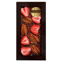 Шоколад с украшением Chokodelika темный с украшением  клубника, пекан, малина 100 гр купить за 385 руб.