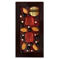 Шоколад с украшением Chokodelika темный с украшением  миндаль, малина, смородина 100 гр купить за 385 руб.