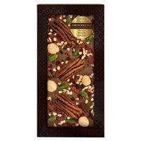 Шоколад с украшением Chokodelika молочный с украшением  пекан, вишня, фундук 100 гр купить за 385 руб.