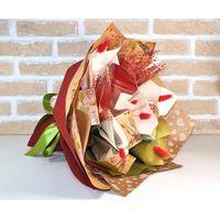 Букет из чая и кофе - Калина красная - Подарочный набор чайно-кофейный букет купить за 2400 руб.