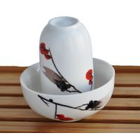 Чайная пара фарфоровая Сакура - пиала и стаканчик купить за 280 руб.
