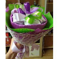 Букет из чая - Ирис - Подарочный набор чайный букет купить за 1300 руб.
