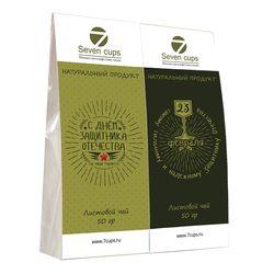 Два чая - Самому надежному Защитнику - Подарочный чайный набор купить за 300 руб.