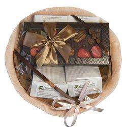 Букет из чая и кофе - Гладиолус - Подарочный набор чайно-кофейный букет купить за 1500 руб.