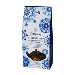 """Чай Gutenberg """"Зимний вечер"""" 100 гр - Черный с добавками купить за 170 руб."""