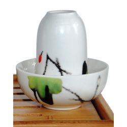 Чайная пара фарфоровая Журавли - пиала и стаканчик купить за 280 руб.