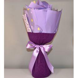 Букет из чая - Лавандовое поле - Подарочный набор чайный букет купить за 650 руб.