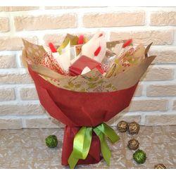 Букет из чая и кофе - Калина красная - Подарочный набор чайно-кофейный букет купить за 1950 руб.