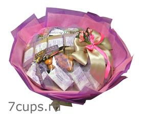 Букет из чая и кофе - Глория - Подарочный набор чайно-кофейный букет купить за 5300 руб.