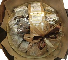 Букет из чая и кофе - Георгин - Подарочный набор чайно-кофейный букет купить за 5300 руб.
