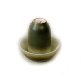 Чайная пара фарфоровая Зеленая крошка - пиала и стаканчик купить за 200 руб.