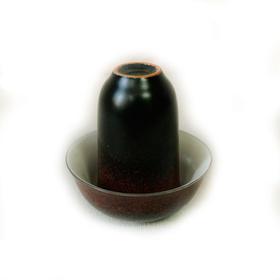 Чайная пара фарфоровая Красная крошка - пиала и стаканчик купить за 200 руб.
