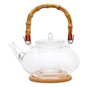 Чайник стеклянный Душистая кувшинка 1000 мл купить за 1500 руб.