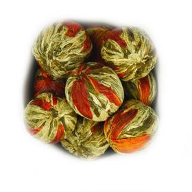 Бай Юй Лянь 50 гр - Белый лотос благоденствия (Шарик с цветком лилии) - Связанный зеленый чай купить за 330 руб.