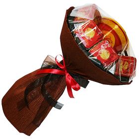 Букет из чая - Черный тюльпан - Подарочный набор чайный букет купить за 2000 руб.