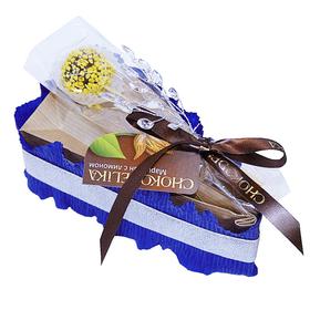 Кусочек торта Марципановый десерт - Подарочный набор из чая купить за 780 руб.