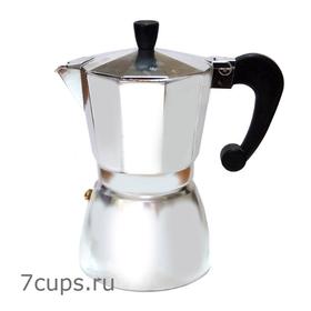 Гейзерная кофеварка алюминиевая 300 мл купить за 1250 руб.