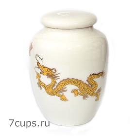 Чайница фарфоровая Дракон белый 300 мл купить за 600 руб.
