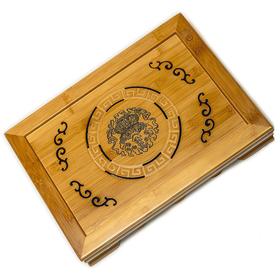 Чайная доска Весенняя песня (чабань) из бамбука 37 х 27 х 6,5 см купить за 3250 руб.