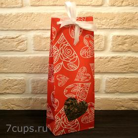 Красное сердце - Подарочный набор из чая и сладостей купить за 390 руб.