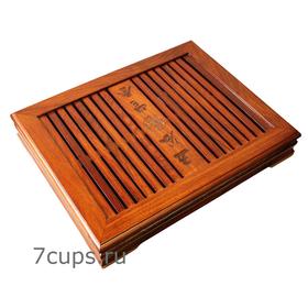 Чайный поднос (чабань) Классическая из груши 34 х 26 х 6 см купить за 3450 руб.