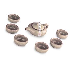 Подарочный глиняный набор чайной посуды Лао Цзя Колотый лед Бежевый купить за 800 руб.