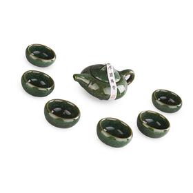 Подарочный глиняный набор чайной посуды Лао Цзя Колотый лед Изумруд купить за 800 руб.