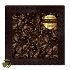 Неровный шоколад в коробке Chokolelika Темный с грецким орехом, 80 гр купить за 300 руб.
